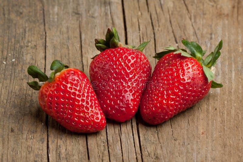 新鲜的草莓三 图库摄影