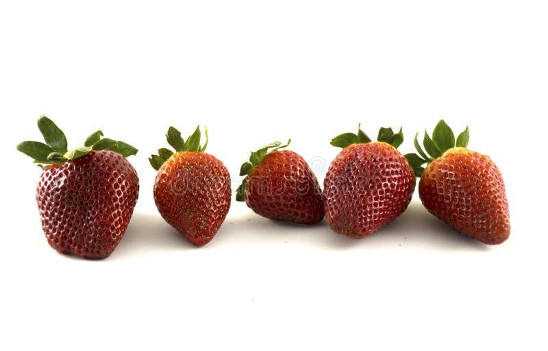 新鲜的草莓在背景中 免版税图库摄影