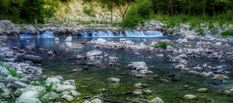 新鲜的蓝色河 库存图片