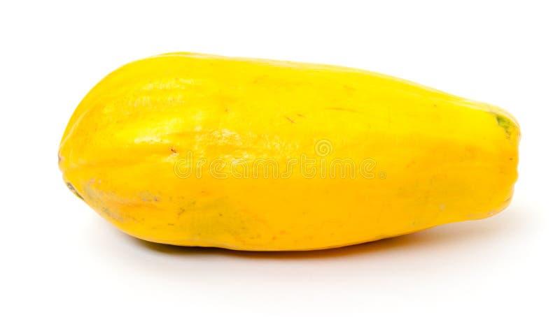 新鲜的黄色番木瓜 库存照片