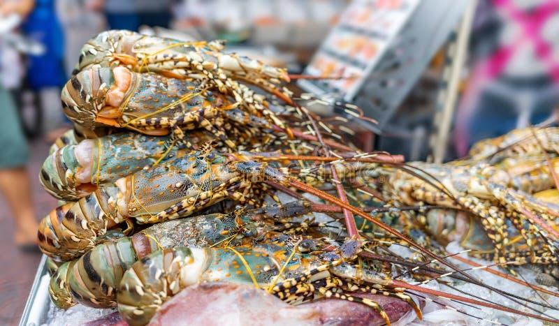 新鲜的龙虾豪华海鲜 免版税库存图片