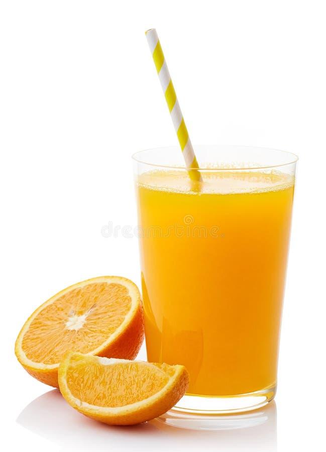 新鲜的玻璃汁液桔子 库存照片