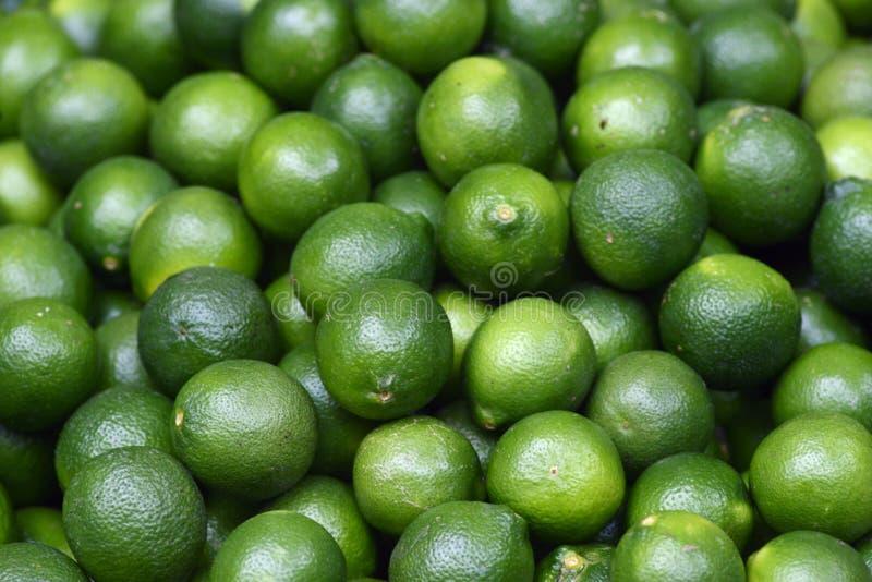 新鲜的绿色柠檬 免版税库存图片