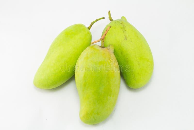 新鲜的绿色芒果(犀牛芒果)泰国 免版税库存图片