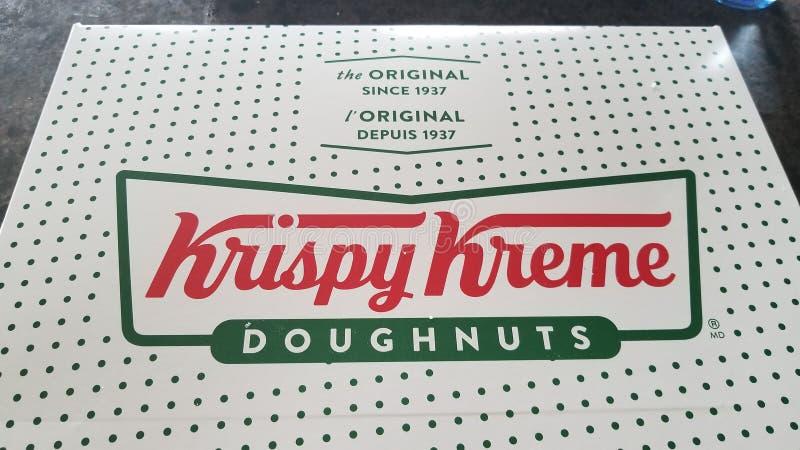 新鲜的Krispy Kreme多福饼 库存图片