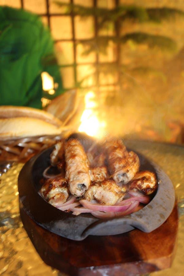新鲜的Seekh Kebab巴基斯坦食物 库存照片