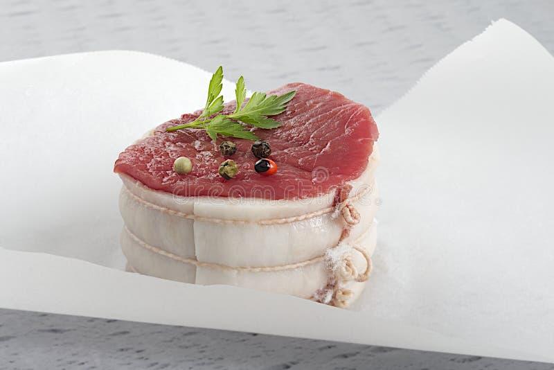 新鲜的tournedos牛肉 免版税库存图片
