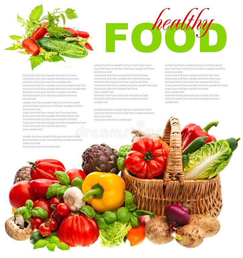 新鲜蔬菜。手提篮。健康营养 库存图片