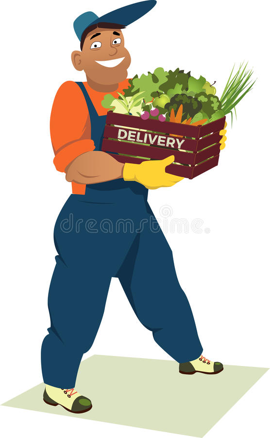 新鲜蔬菜交付 皇族释放例证