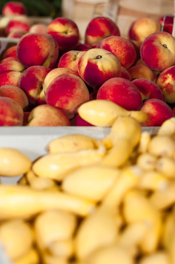 新鲜蔬菜农夫市场在孟菲斯 免版税库存图片