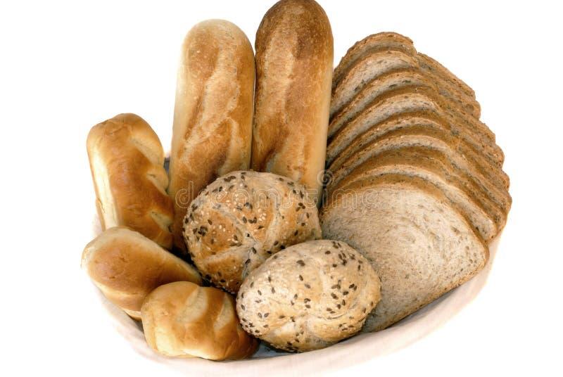 新鲜被烘烤的面包的早餐 免版税库存图片
