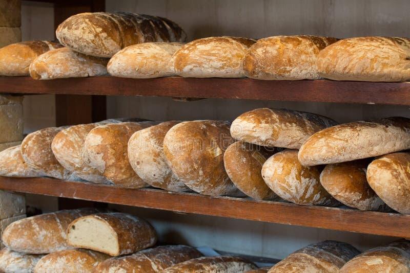 新鲜面包大面包 免版税库存图片