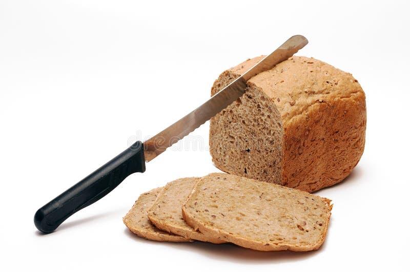 新鲜面包的早餐 图库摄影
