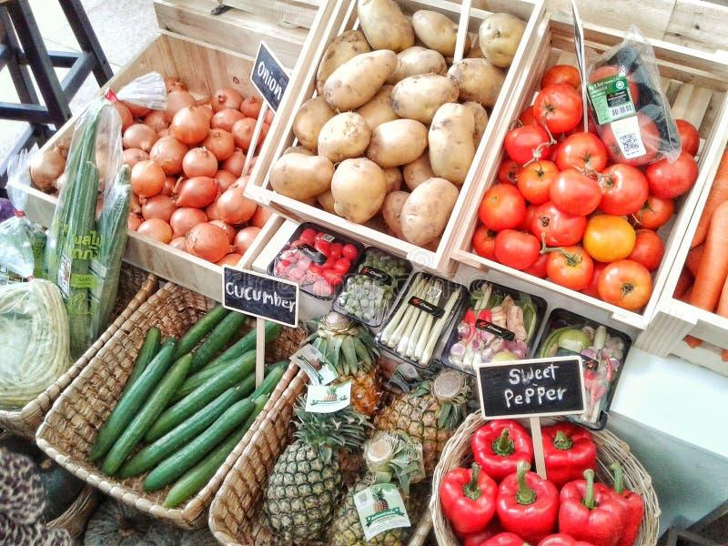 新鲜食品市场 免版税库存照片