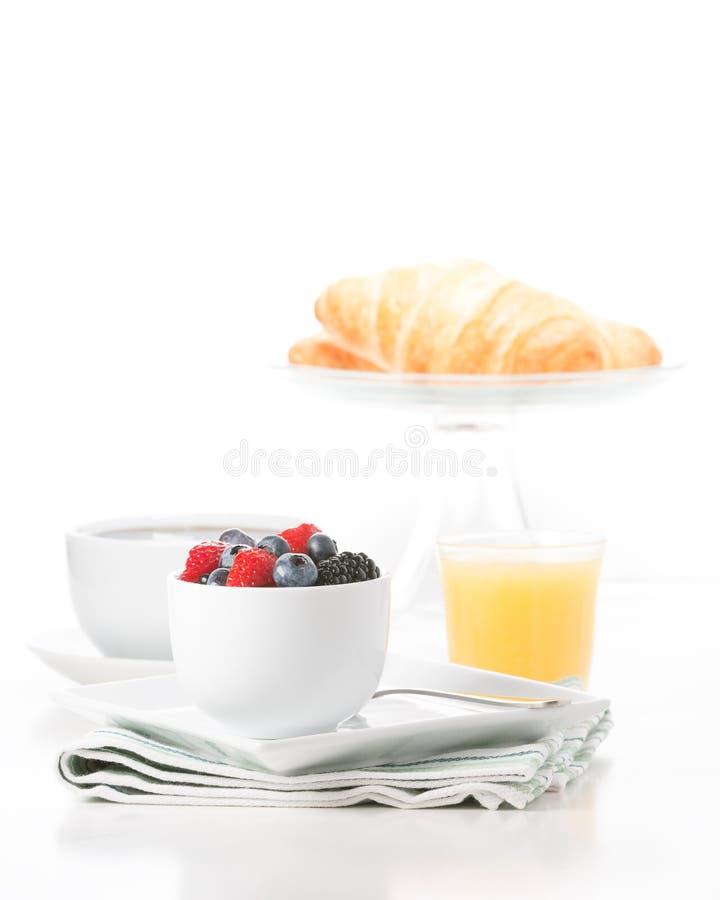 新鲜水果早餐画象 库存图片