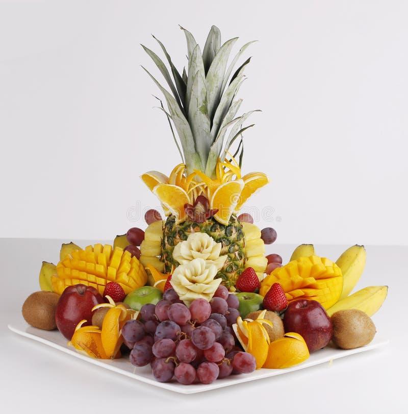新鲜水果橙色苹果菠萝 库存图片