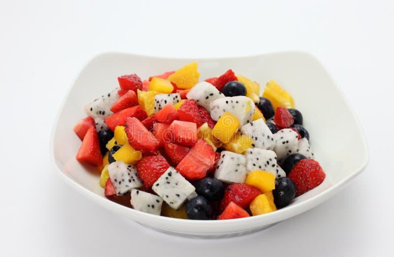 新鲜水果沙拉 库存图片