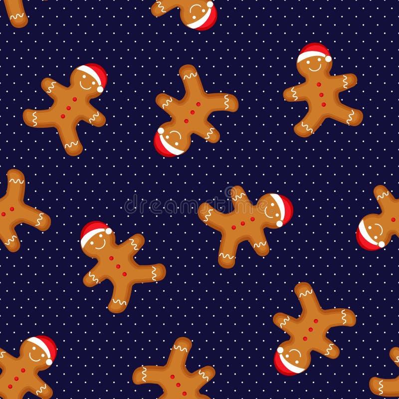 新年、圣诞节,寒假,烹调,除夕、食物等等的无缝的传染媒介样式 皇族释放例证