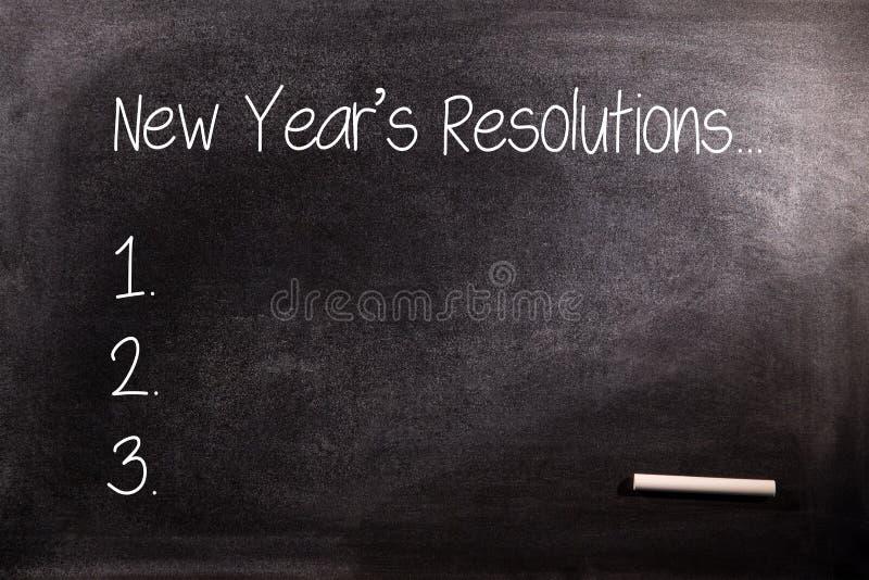 新年决议名单的综合图象 免版税库存图片