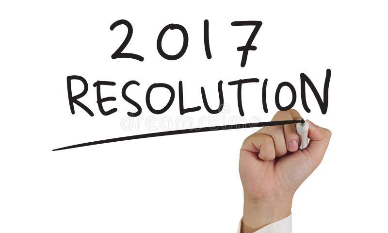 新年2017决议 库存照片