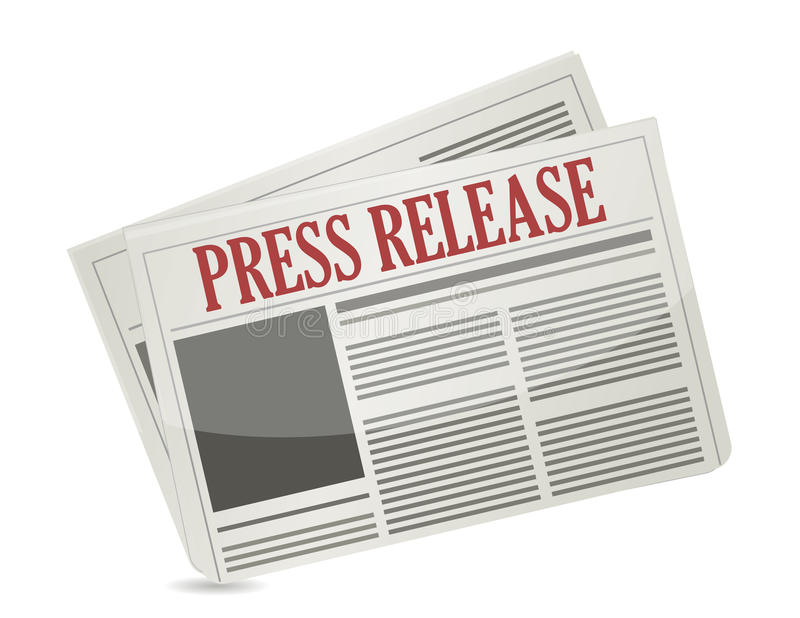 新闻发布报纸例证设计 向量例证