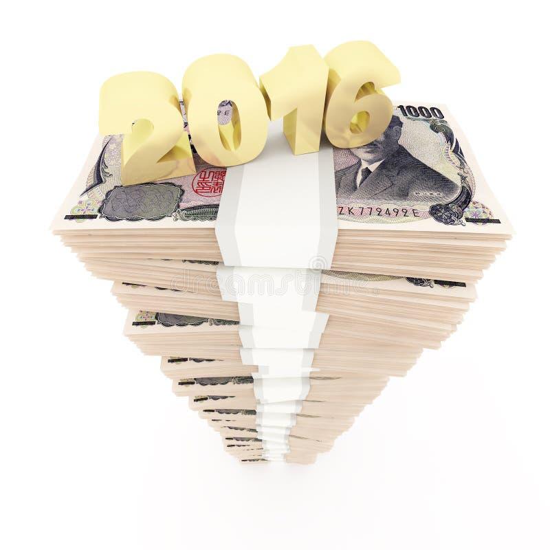 新年2016年和日元堆 皇族释放例证