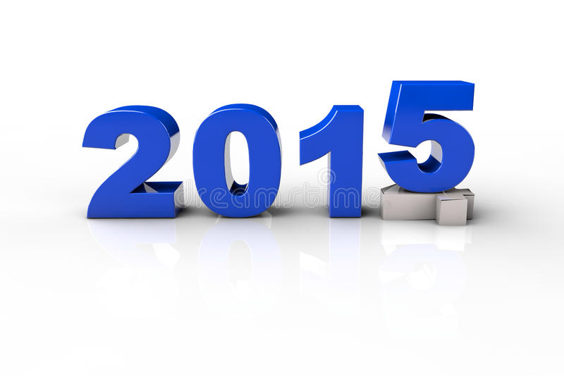 新年2014年和老2015年,回报3D 皇族释放例证