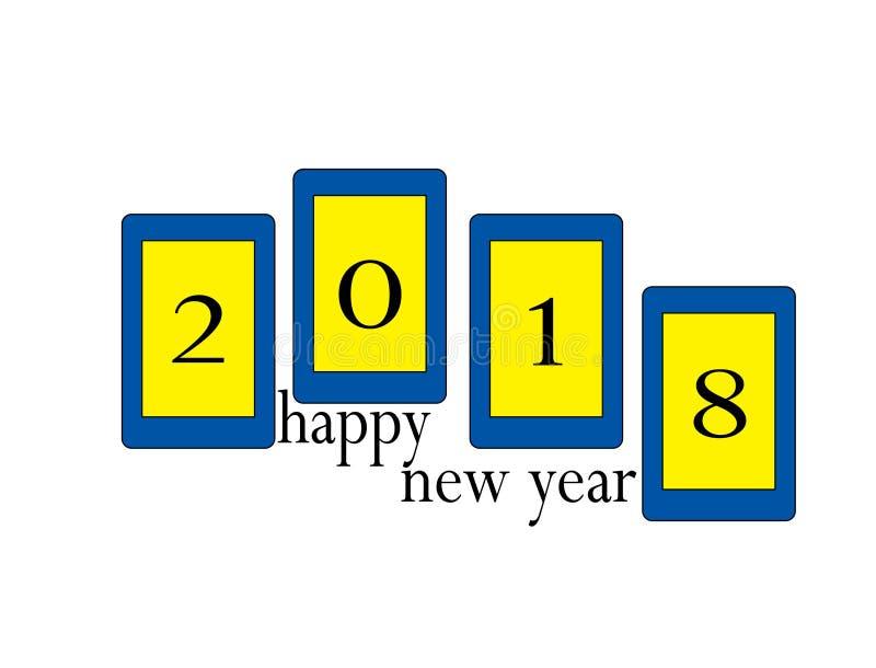 新年商标 向量例证