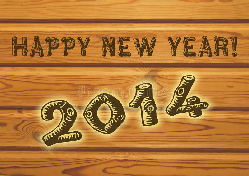 新年好问候在2014年 免版税库存照片