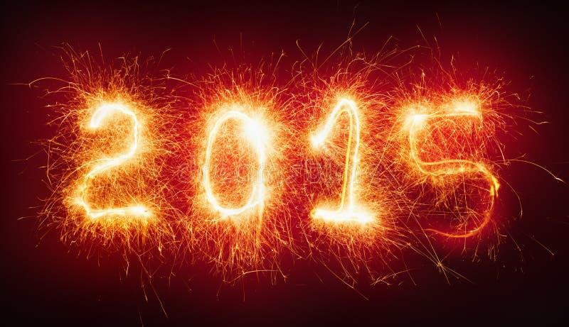 新年好,火热的数字 向量例证