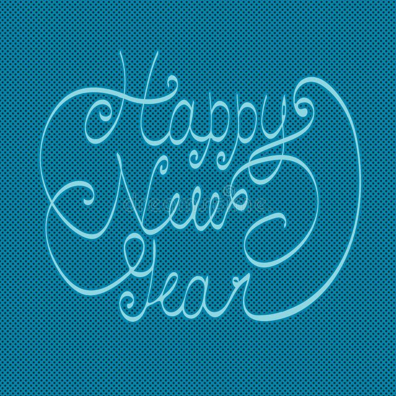 新年好贺卡 手字法 手工制造书法 库存例证