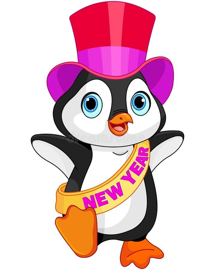 新年小企鹅 皇族释放例证
