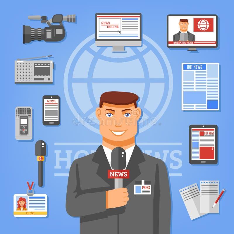 新闻工作者概念例证 库存例证