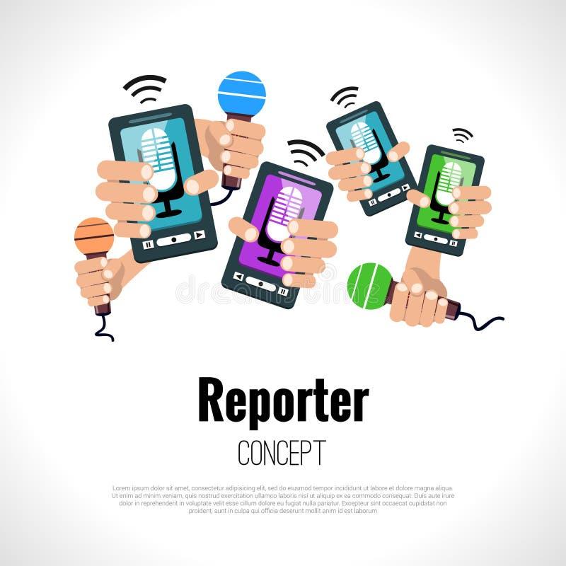 新闻工作者记者概念 库存例证
