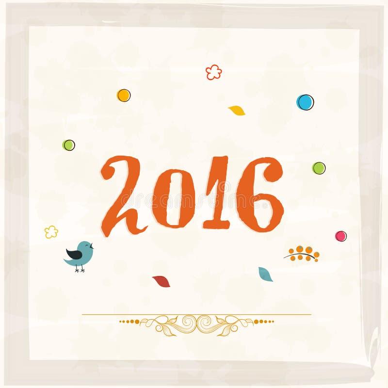 Download 新年快乐的贺卡2016年 库存例证. 插画 包括有 愉快, 礼品, 幸福, 抽象, 创造性, 祝贺, 乐趣 - 62528518