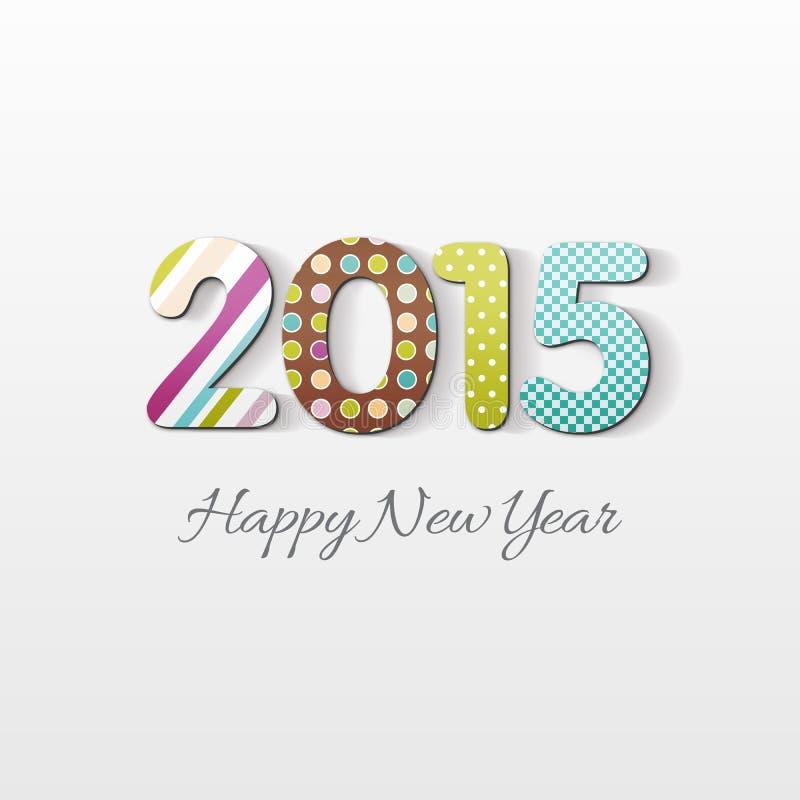 新年快乐2015个假日卡片 库存例证