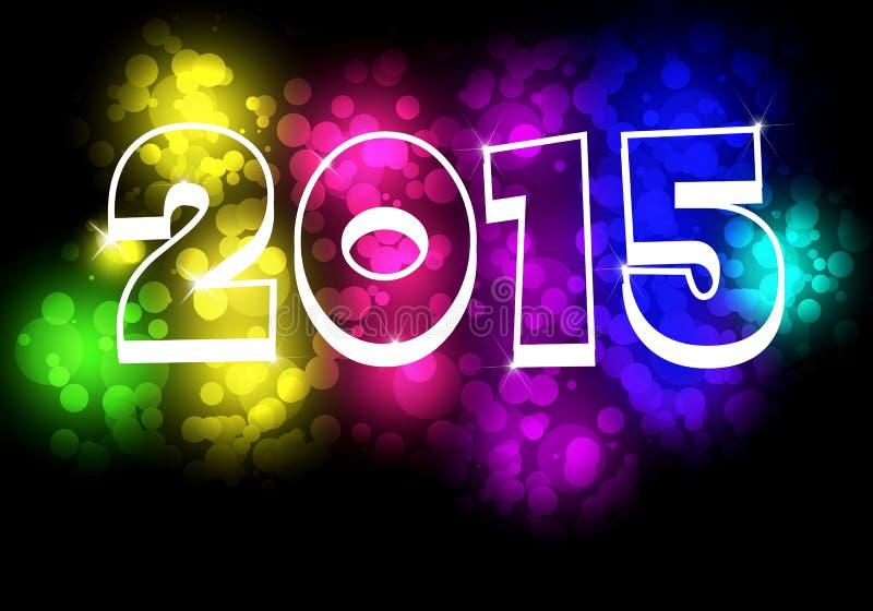 新年快乐- 2015五颜六色的前提 皇族释放例证