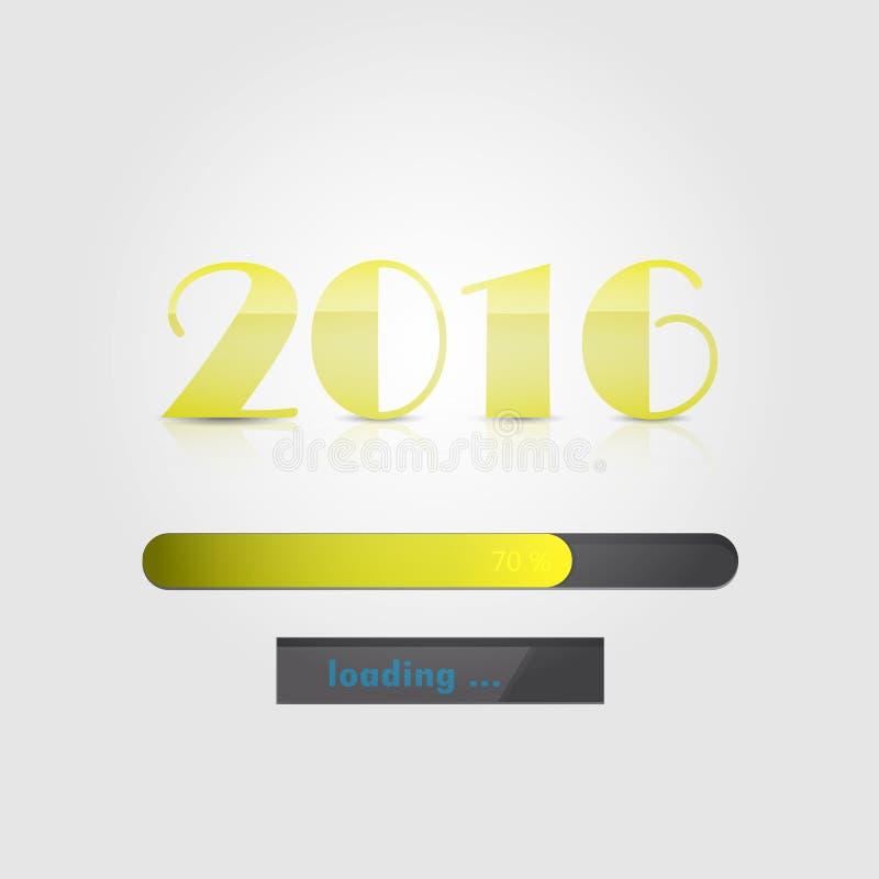 新年快乐2016年 五颜六色的贺卡设计 传染媒介illustr 库存例证