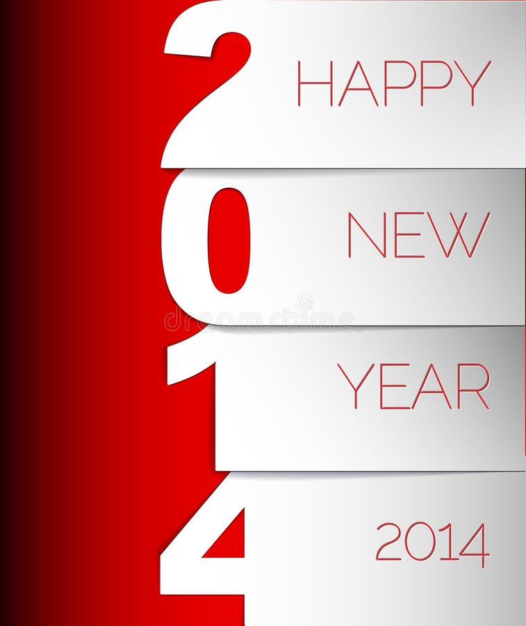 新年快乐2014传染媒介卡片 向量例证