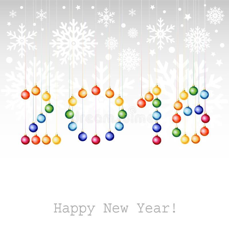 2016年新年快乐贺卡或背景与圣诞节b 皇族释放例证