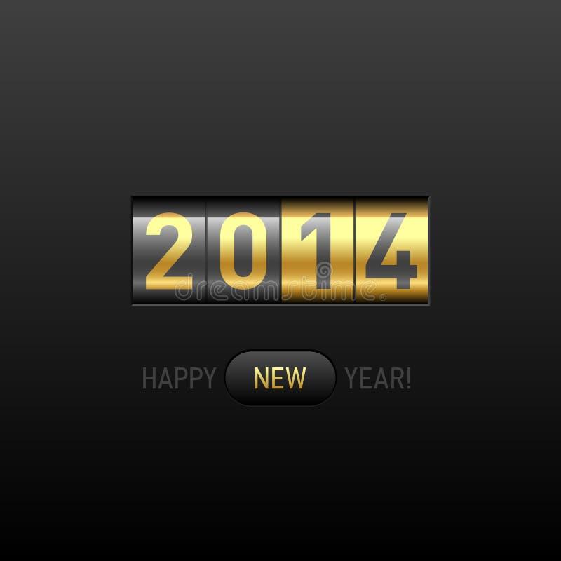 新年快乐2014卡片 向量例证