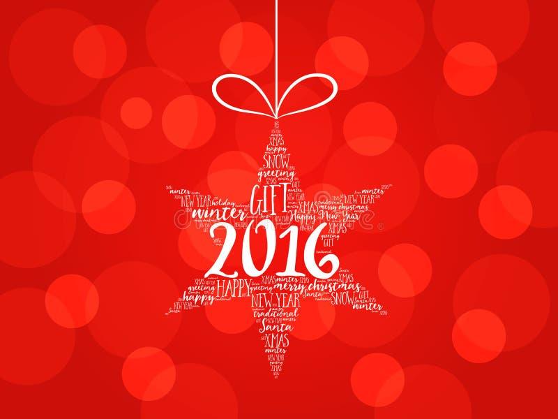 Download 2016年新年快乐 圣诞节星词云彩 库存例证. 插画 包括有 背包, 礼品, 祝贺, 光明节, 云彩, 问候 - 62538993