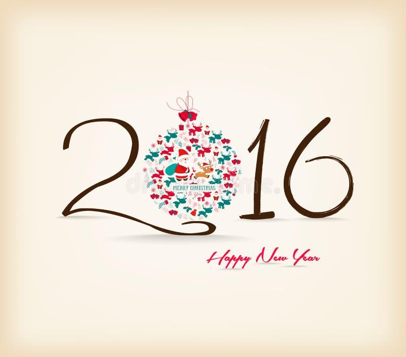 新年快乐201 _ 6庆祝背景 向量例证