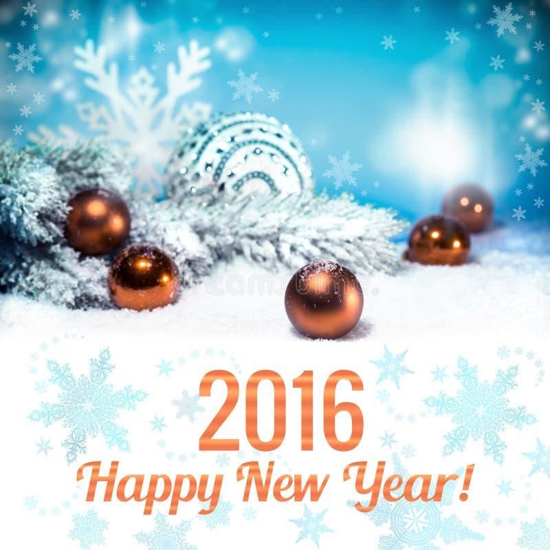 新年快乐2016年 库存照片