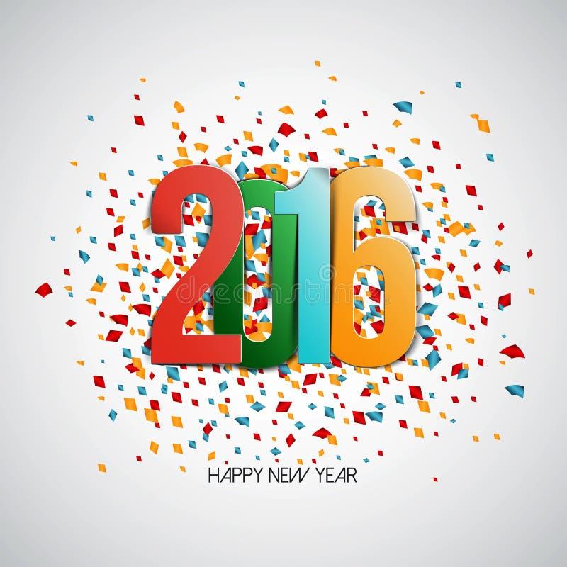 新年快乐2016年 向量例证