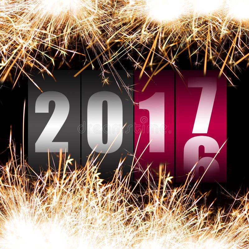 新年快乐2017年 皇族释放例证