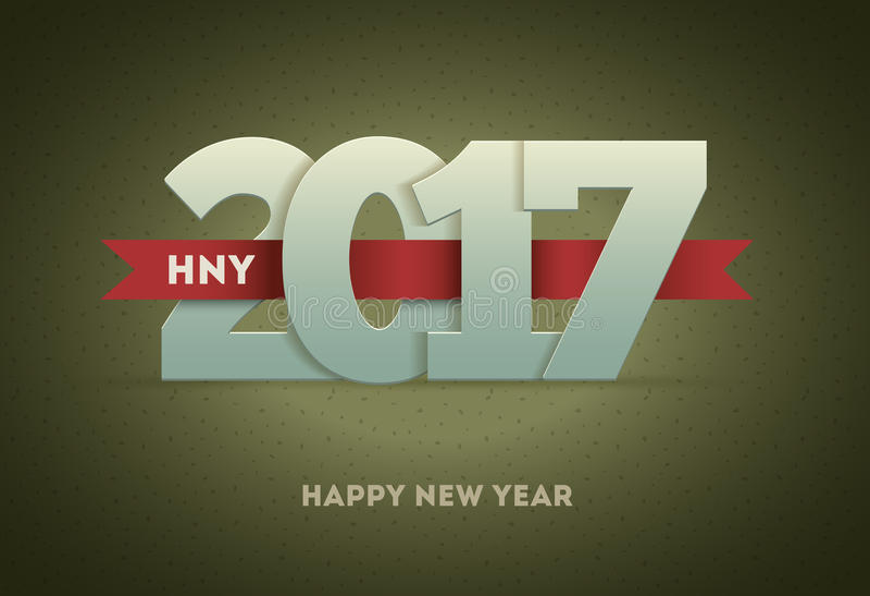2017年新年快乐 向量例证