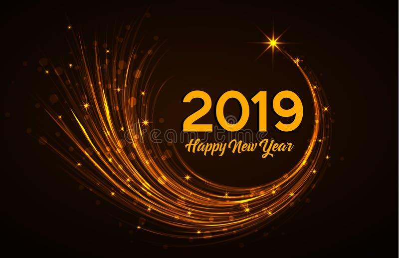 新年快乐2019年 皇族释放例证
