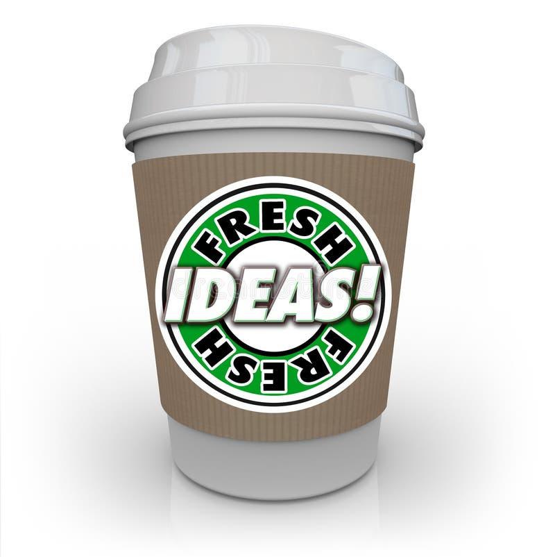新主意咖啡杯咖啡因加剧新创造性的想象力 向量例证