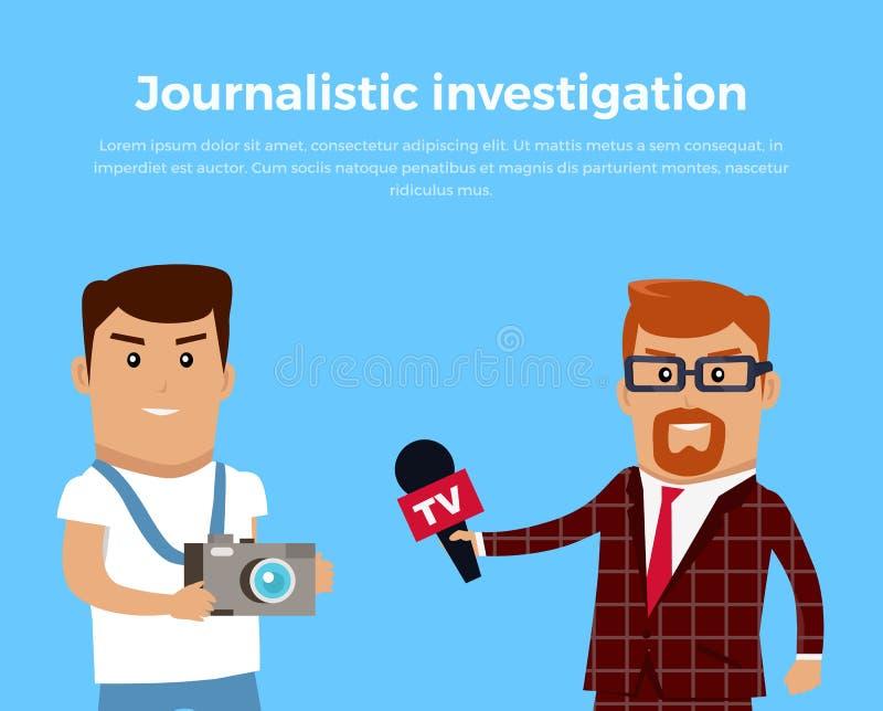 新闻报导的调查概念例证 库存例证